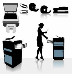 Office photocopiers vector