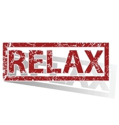 Relax outlined stamp vector