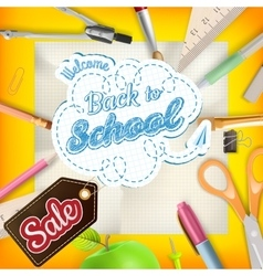 School sale background eps 10 vector