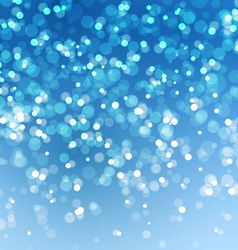 Abstract Lights on Blue Background vector image