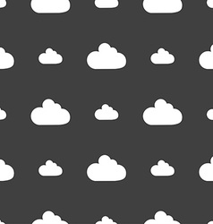 Cloud sign icon data storage symbol seamless vector