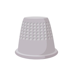 Thimble cartoon icon vector