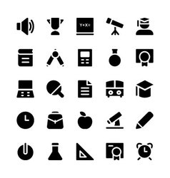 Education Solid Icons 1 vector image
