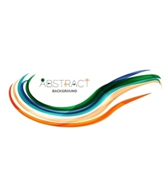 Rainbow color lines on white identity wave vector