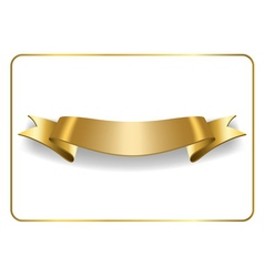 Gold satin ribbon on white vector