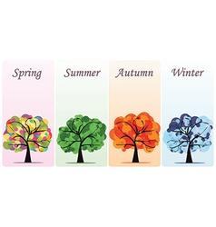 Abstract seasonal trees vector