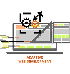 Adaptive web development vector