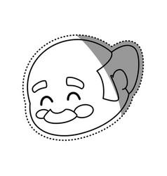 adult male avatar elder head vector image vector image