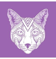 An ornamental ethnic lynx vector