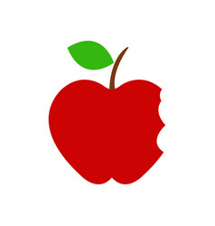Apple icon with bite on white background vector