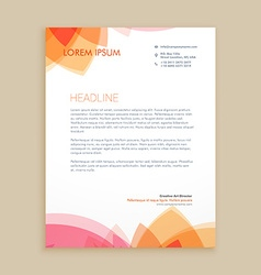 beautiful letterhead design vector image vector image