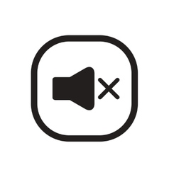 Black icon on white background button music vector