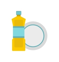 Bottle for dishwashing icon flat style vector