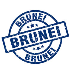Brunei blue round grunge stamp vector