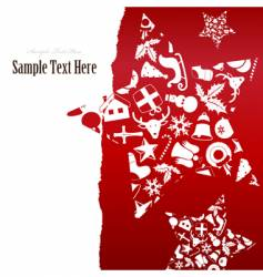 christmas icons in star shape vector image vector image