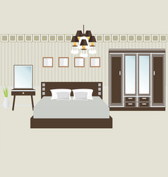 Design double bedroom vector