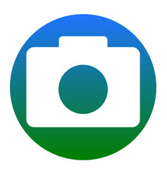 digital camera sign white icon in bluish vector image