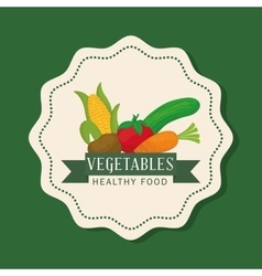 Farm fresh design organic food icon Colorful vector image