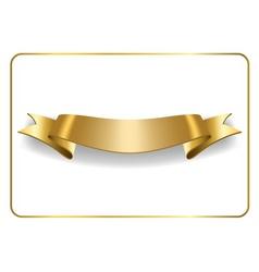 Gold satin ribbon on white vector