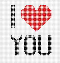 I love you dots vector image vector image