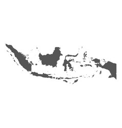 indonesia map black icon on white background vector image