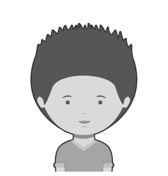 monochrome half body man with t-shirt vector image