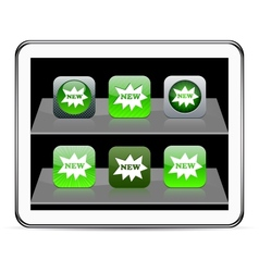 New green app icons vector image vector image