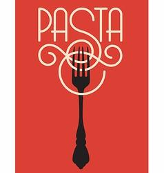 Pasta design vector image vector image
