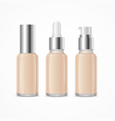 realistic 3d empty template foundation cream tube vector image vector image