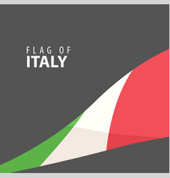 stylish flag of italy against a dark background vector image vector image