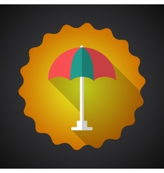 Summer travel umbrella flat icon vector