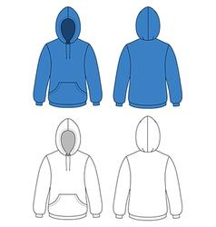 unisex hoodie vector image vector image