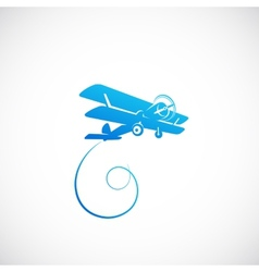 Vintage plane symbolo icon or logo template vector