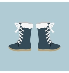 Winter Shoes Felt Boots vector image vector image