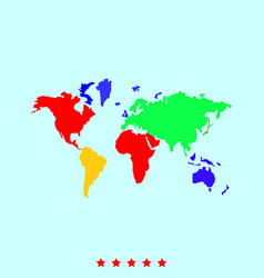 world map set it is color icon vector image vector image