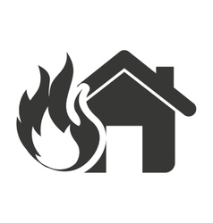 House insurance property isolated icon vector