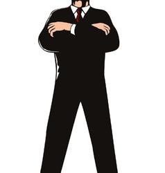 Secret service agent body guard vector