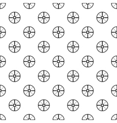 Medieval round shield pattern simple style vector image