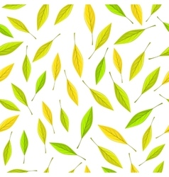 Seamless Pattern with Autumn Leaves on Brown vector image