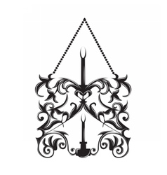 Baroque style wall lamp on white vector