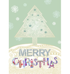 Christmas tree christmas card vector