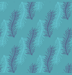 Stylized branch seamless background vector