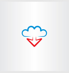 Cloud and arrow download icon vector