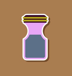 Paper sticker on stylish background coffee jar vector