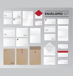 Document letter realistic set vector