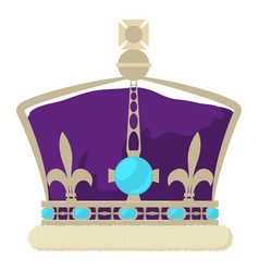 Crown of the king icon cartoon style vector