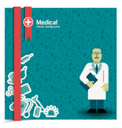 Doctor background vector