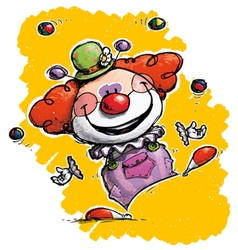 Clown juggling vector