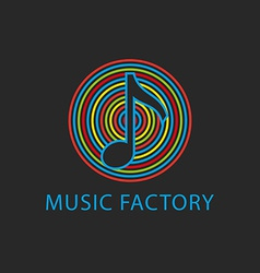 Music colorful logo template design note icon vector