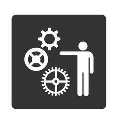 Project icon from commerce buttons overcolor set vector